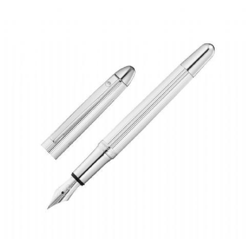 Hallmarked Sterling Silver Waldmann Fountain Pen - Pocket - Fine Line Finish